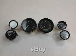 04-13Harley Touring Speedometer Tachometer Oil Volt Fuel Air Tach Speedo Gauges