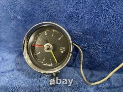 1960's Stewart Warner 977J Pedestal Tachometer & 990B Ignition Monitor Works