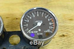 1978 Suzuki Gs550 Gs 550 Dash Gauge Cluster Speedometer Speedo Tachometer Set
