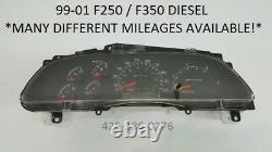 2000 Ford F250 F350 DIESEL speedometer instrument gauge cluster PICK MILEAGE