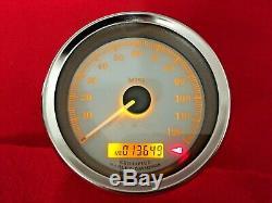 2006 Harley Street Glide Gauges Speedometer 13k Speedo Tach Silver Face Touring