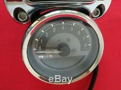 2015 Harley Cvo Softail Deluxe 4 Speedo Tach Gauge Speedometer Mount & Risers