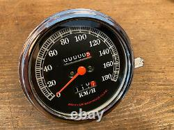 67030-91 Harley Speedometer Kilometer Mech. Tachometer Tacho Restauriert