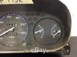 96 97 98 99 00 Civic LX MT Instrument Cluster Speedo Tacho Meter Gauges 173k OEM