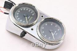 97 Harley Dyna Low FXDL Speedometer Speedo Tachometer Tach Gauge Set 26k mi