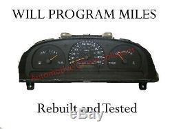 98-99 Nissan Frontier MT WithO TACH Speedometer Speedo 5spd Gauge Cluster USED OEM