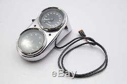 98 Harley Dyna Speedometer Speedo Tachometer Gauge Set Gas Tank Console 23k Mi