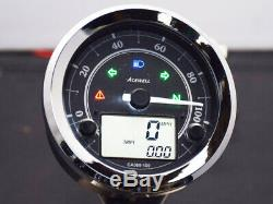 Acewell CA080-100 Royal Enfield 350 500 plug and play speedo with tachometer