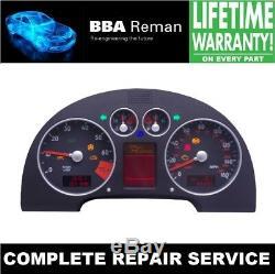 Audi TT Instrument Cluster Dash Speedo Complete Repair Service including LCD