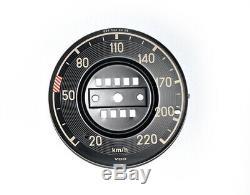 Blech Zifferblatt Ziffernblat für Mercedes W113 Tachometer Dial speedometer