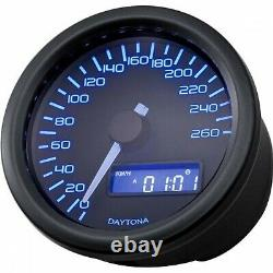DAYTONA digital Tachometer speedometer tachymètre VELONA Ø60mm schwarz black