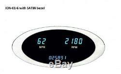 Dakota Digital Universal Speedometer Tachometer Combo Gauge Oval Bezel ION-01-6