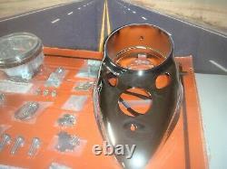 Dash Panel Kit Chrome Cateye 11 Ratio Speedo Harley Shovelhead V-Twin 390922 X6