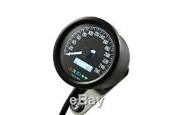 Daytona'Velona 2' mini digital Tachometer 60mm Speedometer 260km/h e-geprüft