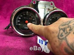 Dyna Fxr Sportster Speedometer Tachometer Harley Speedo Oem Tech Bracket Mount