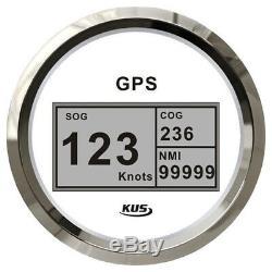 GPS Digital Geschwindigkeitsmesser Speedometer Tachometer 85mm COG 12/24 Volt