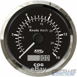 GPS-Geschwindigkeitsanzeige Tachometer Speedometer Kompass schwarz bis 28 km/h