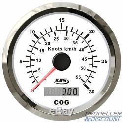GPS-Geschwindigkeitsanzeige Tachometer Speedometer mit Kompass weiß bis 55 km/h