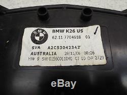 Gauge Cluster Speedo Tach 37,551 Mi BMW R1200RT 05-09 OEM R 1200 RT