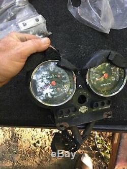 Harley FXR Police FXRP gauges tach speedo Rare w keys Sportster Dyna speedometer