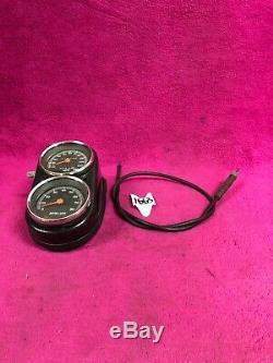 Harley Fxr Dash Console Speedo Speedometer Tach Tachometer Gas Tank Mounted Dyna