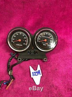 Harley Speedometer Tach Tachometer Dual Guage Mount Sportster Dyna 99 Speedo Set
