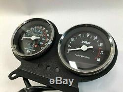 Harley nos oem fxr cable driven dual speedo speedometer tach tachometer assembly
