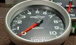 IN DASH Autometer Sport Comp II Speedometer & Tachometer COMBO Speedo Tach 5 NEW