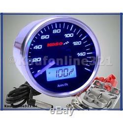 KOSO D55 Tacho Tachometer GP STYLE schwarz 160 km/h NEU Motorrad Roller Quad BB
