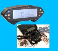 KOSO DB01RN Tachometer mit Drehzahlmesser mit E-Zeichen und ABE (360-295)
