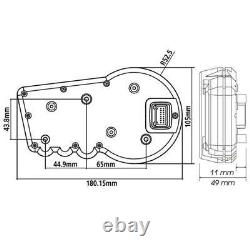 KOSO RX2 GP Style Digitaler Tachometer E-geprüft ABE