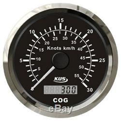 KUS GPS analog Geschwindigkeitsmesser Speedometer Tachometer 85mm SOG COG 12/24
