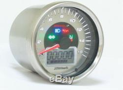 Koso BB641B30 D64 Chrome Style Tachometer + Signalleuchten max. 160 km/h