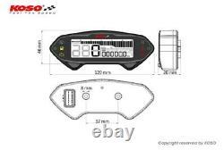Koso DB01RN Tacho mit Drehzahlmesser, mit ABE, Motorrad, Quad, ATV, Custom