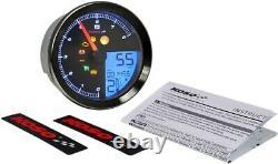 Koso LCD Color Change Speedo & Tachometer Black Bezel BA051231 Harley