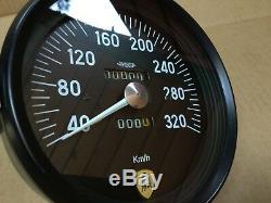 Lamborghini Miura P400 JAEGER Speedo Speedometer Tachometer Gauge 320 km/h