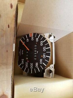 Mercedes w126 240km/h speedometer tachometer NOS