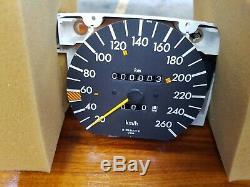 Mercedes w126 560 260km/h speedometer tachometer NOS