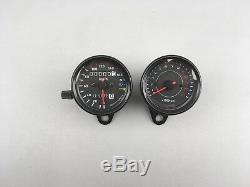 Motorrad Mini Tachometer Speedometer Tacho Drehzahlmesser Set rev counter black
