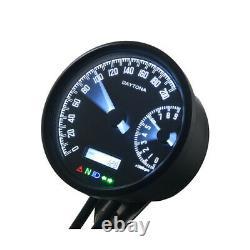Motorrad Tacho Drehzahlmesser Velona speedo & tachometer 80mm 200 Kmh/9000rpm