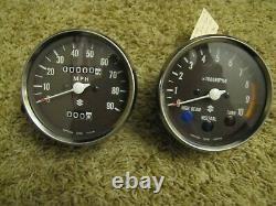 NOS 1977-79 Suzuki TS125 TS185 TS250 Speedometer Tachometer NEW Gauges TS Speedo