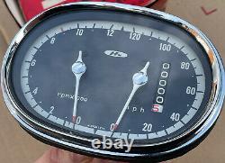 NOS Genuine Honda MPH Speedo Speedometer & Tachometer Tacho for CB72 CB77