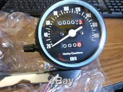 NOS Harley Davidson Gauges Speedometer Speedo Tach Tachometer KM/H KMH 92069-81A