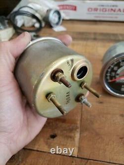 Nos Vintage Stewart Warner Speedometer Tachometer Set Green Line 8K RPM 160 MPH