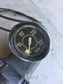 Old Diamond T Autocar 2 5/8 Temp Gauge Hot Rat Rod Vintage Dash Instrument Scta