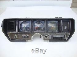 Original GM 1970 Buick Skylark GS 455 Factory Gauge Package & Clock Dash Cluster
