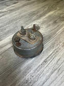 Original Stewart Warner AMPS Instrument Gauge Panel Dash Hotrod SCTA TROG