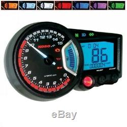 Tachometer KOSO Digital Cockpit RX2 GP Style ABE mehrfarbiges Display universal