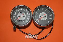 Triumph Pair Smiths Replica Speedo Tacho Speedometer Tachometer 1966-70