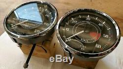 Triumph Tr4 Tr4A Jaeger Speedometer MPH & Tachometer RPM Gauge Flat Glass